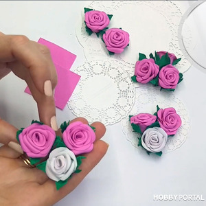 Розы из фоамирана за 2 минуты
