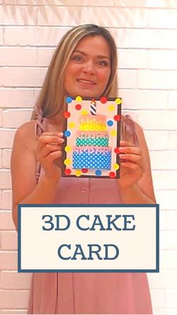 3D открытка с тортом - как сделать объёмную открытку на День рождения.