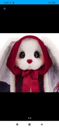 Кто знает как шить такие щeчки у зайца?