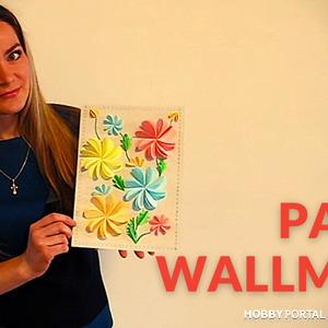 3D декор стены. Картина из бумаги для летнего декора комнаты.
