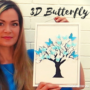 "3D картина из бумаги ""Дерево с бабочками"" МК + шаблоны!"