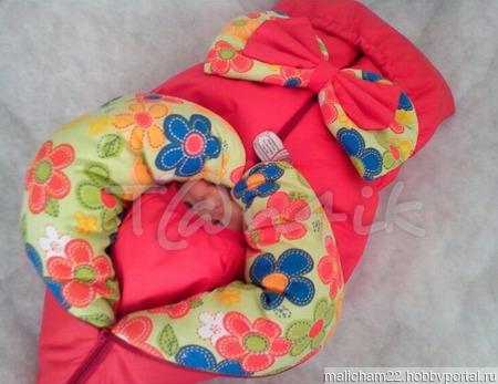 Одеяло-трансформер на выписку и для прогулок ручной работы на заказ