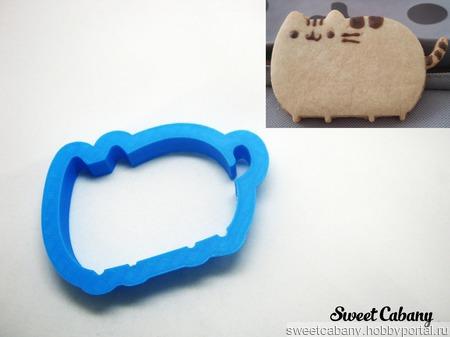 Вырубка для печенья и пряников форма Кот Пушин ручной работы на заказ