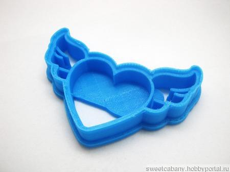 Вырубка для печенья и пряников форма Сердце с крыльями ручной работы на заказ