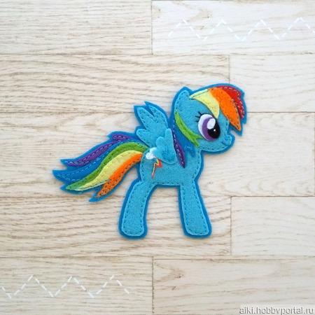 Брошь My Little Pony ручной работы на заказ