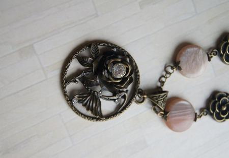 """Комплект украшений """"Каменный цветок"""" ручной работы на заказ"""