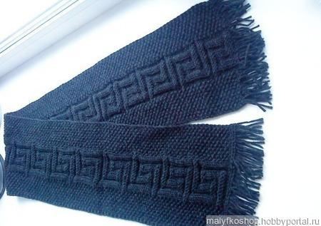 "Мужской шарф ""Меандры"" ручной работы на заказ"