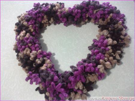 Цветочный шарфик ручной работы на заказ