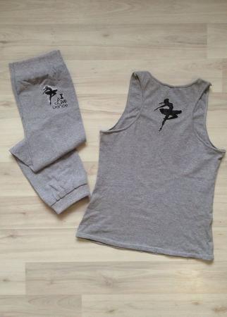 Комплект майка-борцовка и гетры, для тренировки ручной работы на заказ