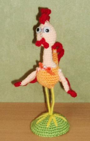 Сувенирная игрушка Петушок ручной работы на заказ