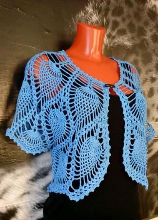 Болеро вязаное крючком  Ананасы ручной работы на заказ