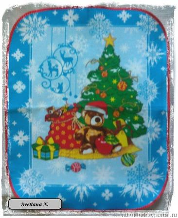 """Полотенце для кухни """"Новый год"""" ручной работы на заказ"""