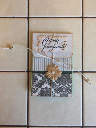 Конверт для подарочной карты на день рождения ручной работы на заказ