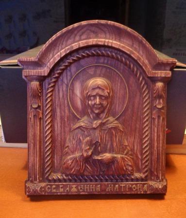 Икона Святой Блаженной Матроны ручной работы на заказ
