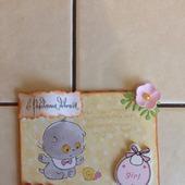 Конверт для подарочной карты на рождение девочки