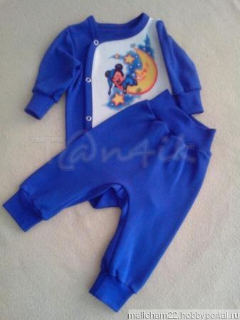 Комплект для новорожденного: боди + штанишки ручной работы на заказ