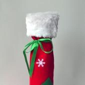 Подарочный мешочек-чехол на бутылку