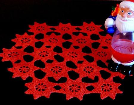 Звёздная салфетка к празднику ручной работы на заказ
