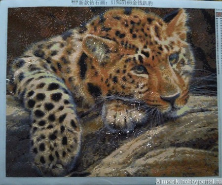 "Картина ""Леопард"" ручной работы на заказ"