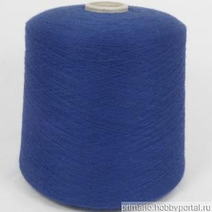 100% кашемир (Supercash синий 4000м) ручной работы на заказ