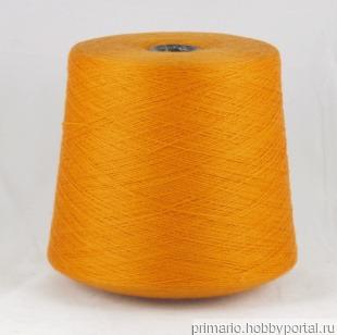 Кашемир 20% меринос 80% (мандарин) ручной работы на заказ