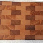 Доска разделочная торцевая из натурального дерева для вашей кухни