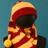 "Шапка и шарф,комплект ""Гарри Потер"""