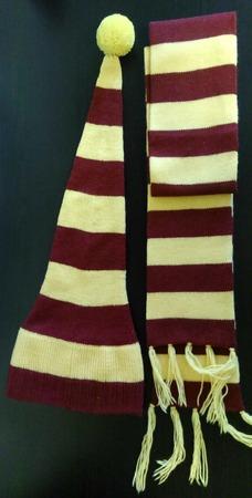 """Шапка и шарф,комплект """"Гарри Потер"""" ручной работы на заказ"""
