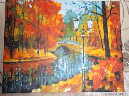 Осенний пейзаж ручной работы на заказ