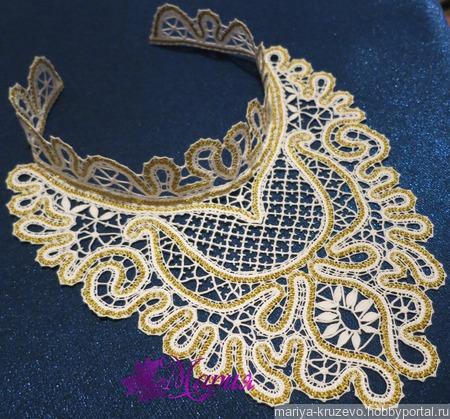 Колье-чокер Золотые узоры ручной работы на заказ