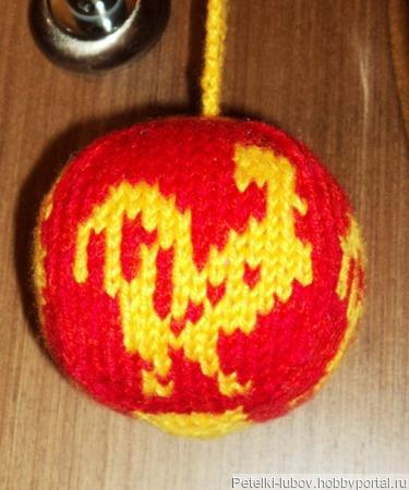 Елочный шарик Петух ручной работы на заказ