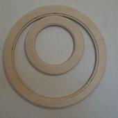 Комплект круглых рамок (заготовка для декупажа и росписи)