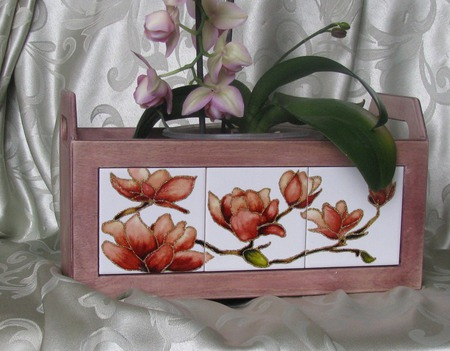 """Ящик для  цветов """"Магнолия"""" ручной работы на заказ"""