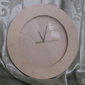 Часы настенные круглые со стеклом