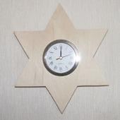 """Часы настенные """"Звезда Давида"""""""