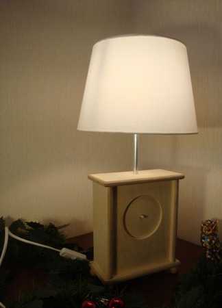 Настольная лампа - часы заготовка для декорирования ручной работы на заказ