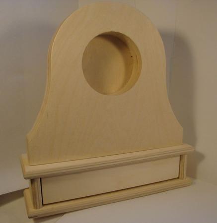Часы каминные с ящиком ручной работы на заказ
