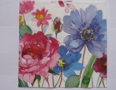 """Салфетки для декупажа """"Цветы садовые"""" 5 видов ручной работы на заказ"""