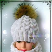 Теплая шапочка и снуд