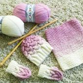 Детский молочно-розовый комплект