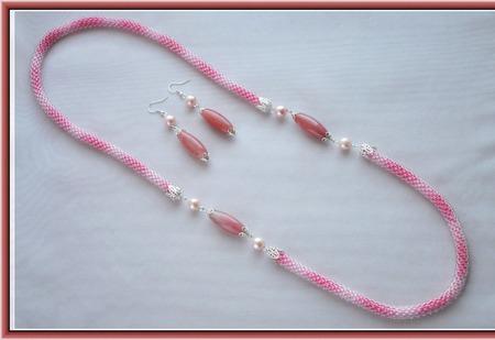 Комплект Розовый фламинго ручной работы на заказ
