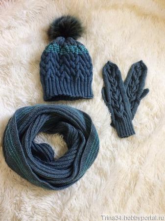 Серо-голубой комплект ручной работы на заказ
