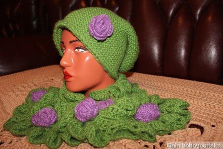 Шапочка с шарфиком ручной работы на заказ