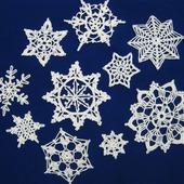 Ажурные снежинки для украшения ёлки и дома