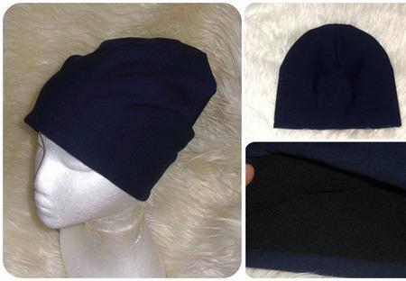 Темно-синяя с флисовым подкладом ручной работы на заказ