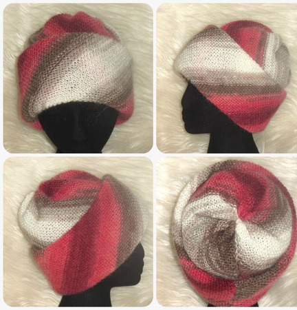 Вязаная шапка трансформер,шапка из мохера,шапка с отворотом ручной работы на заказ