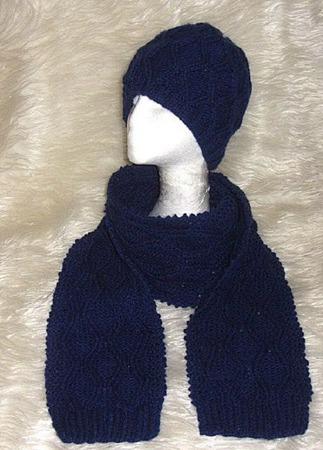 Ромбы вязаный комплект шапка и шарф ручной работы на заказ