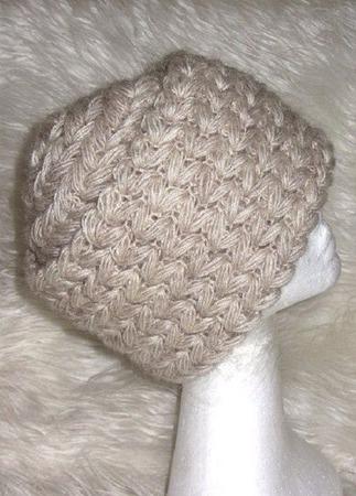 Бежевая шапка из мохера, теплая зимняя вязаная шапка ручной работы на заказ
