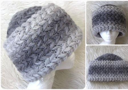 Василёк шапка из мохера, зимняя вязаная шапка с отворотом ручной работы на заказ
