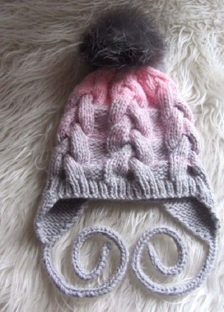 Вязаный комплект для девочки(шапка,снуд,варежки) ручной работы на заказ